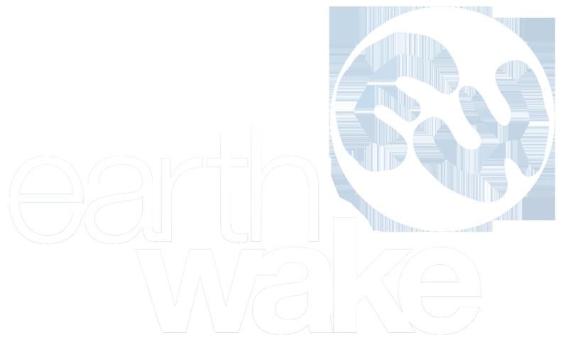 EarthWake - Logo blanc - 800px